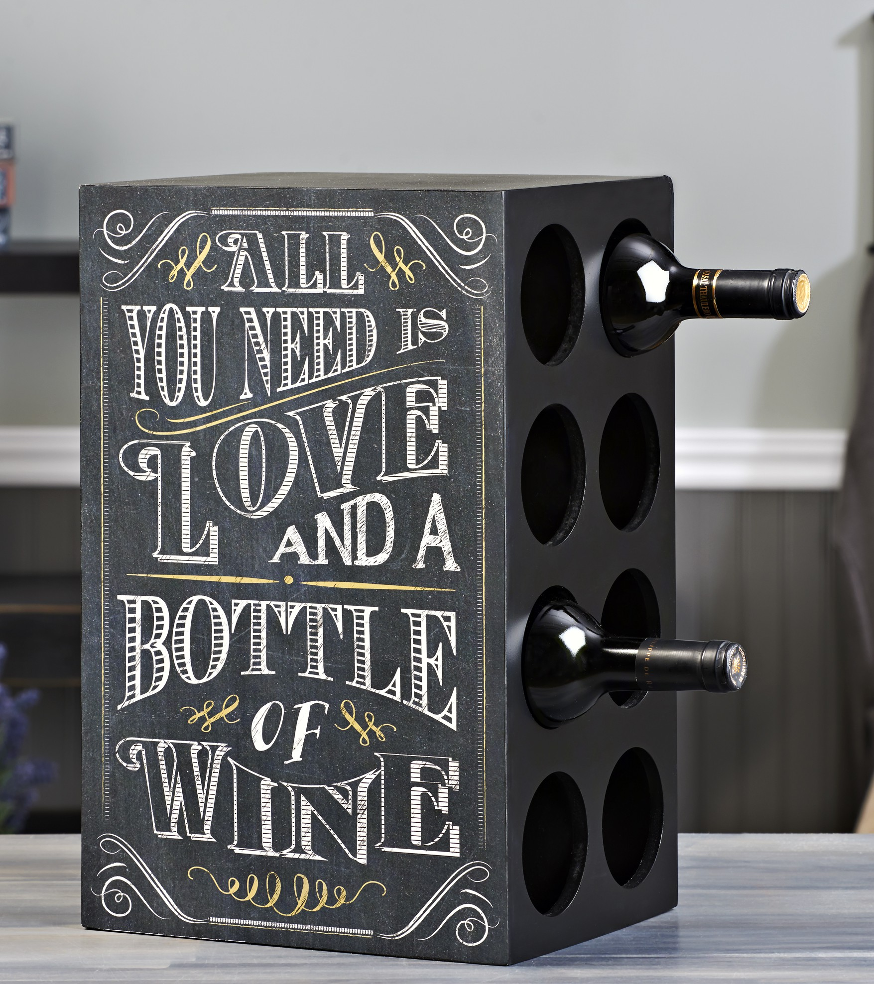 Chalk Talk Wine 8-Bottle Wine Rack