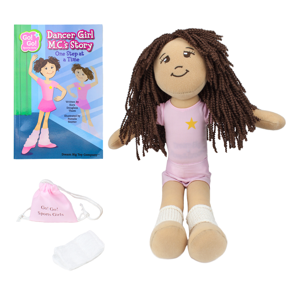 Dancer Girl M.C. Read & Play Doll and Book Set