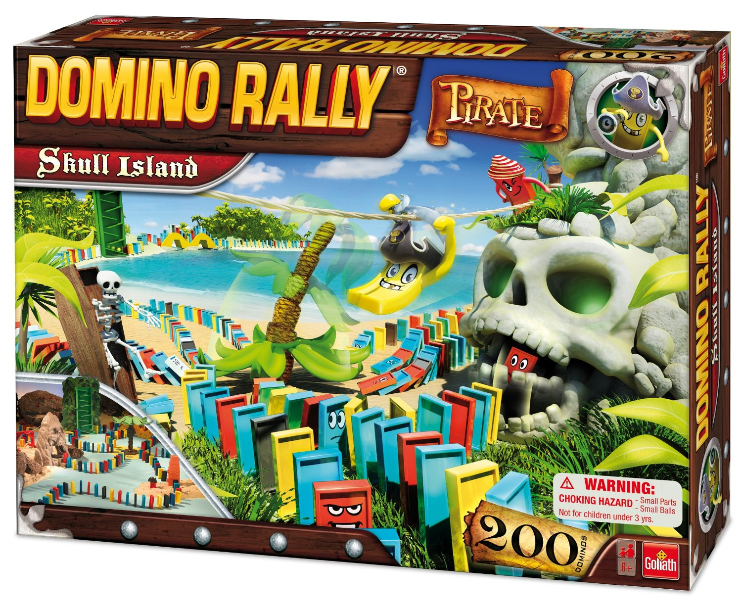 Domino Rally Pirate Skull Island Set