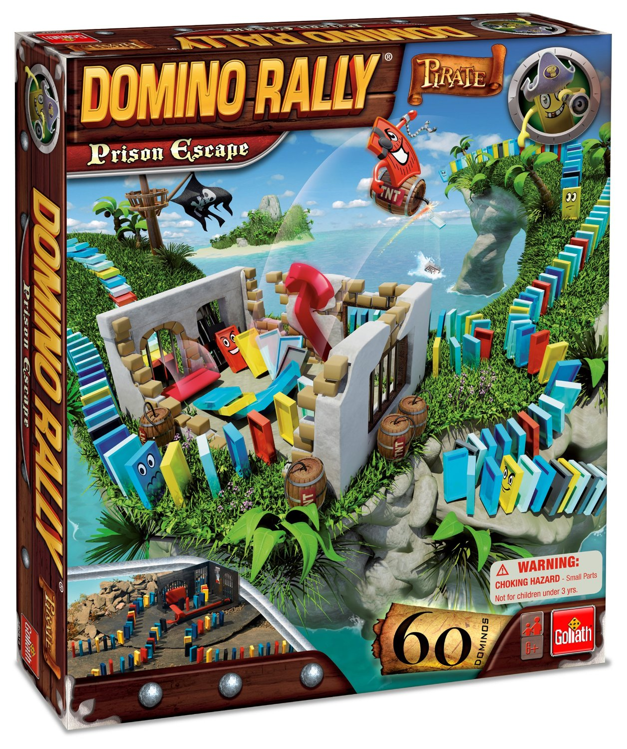 Domino Rally Pirate Prison Escape Set
