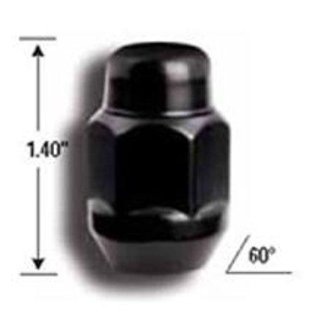 1/2in Acorn Bulge Black Ch