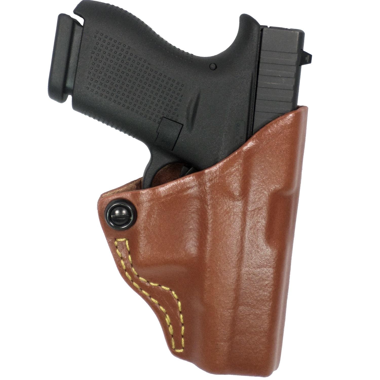 G&G Chestnut Brwn Tension Belt Slide Holster-Kahr Right Hand