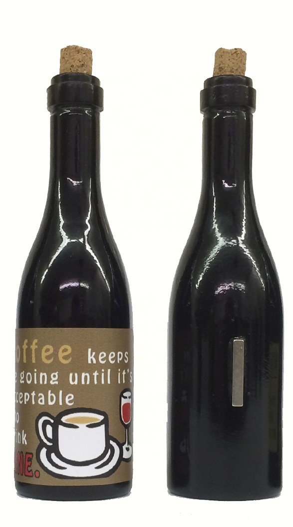 Coffee keeps me going until it's acceptable to drink wine! Clever Saying Magnet