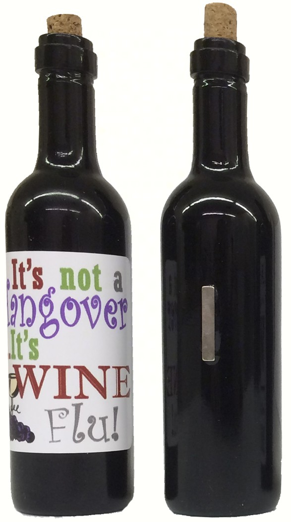 It's not a hangover, its wine flu Clever Saying Magnet