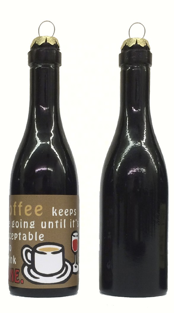 Coffee Keeps me going until it's acceptable to drink wine! Clever Saying Ornament