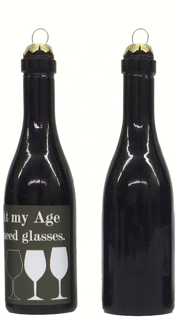 At my age I need glasses Clever Saying Ornament