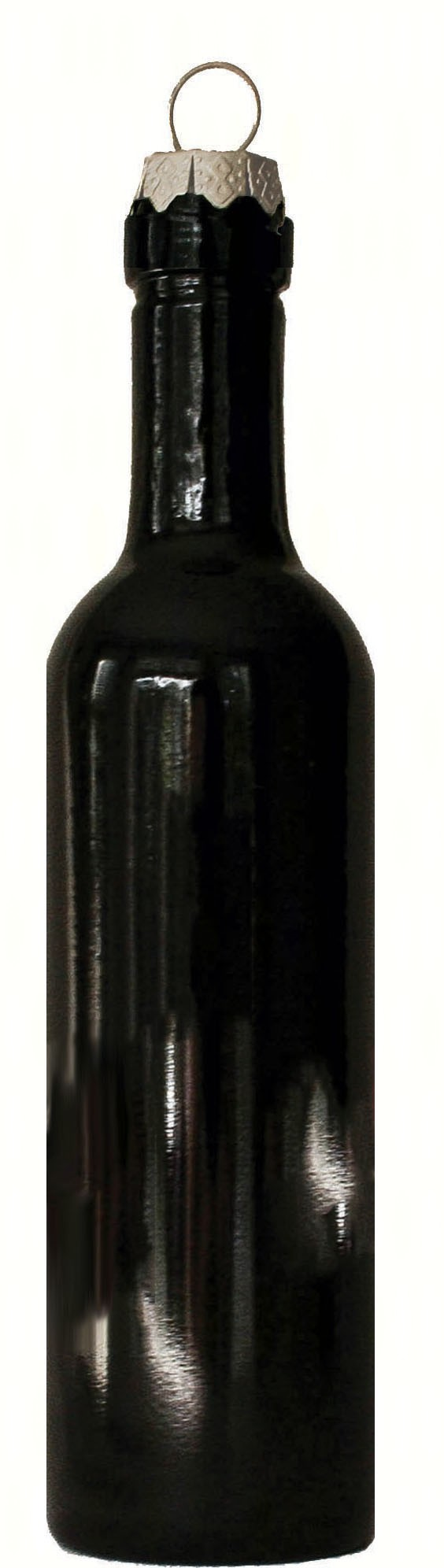 Bordeaux Bottle Wine Bottle Ornament with Silver Hook