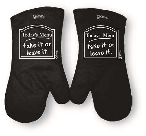 Oven Mitt Today's Menu Take it or Leave it