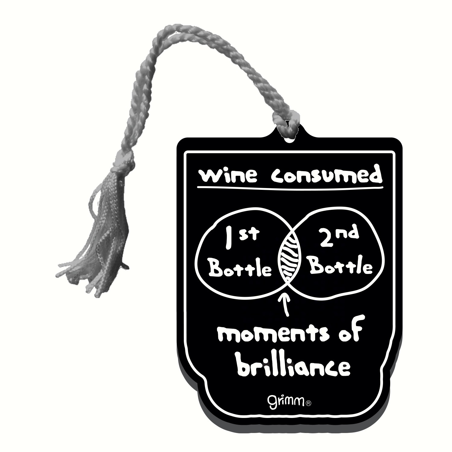 Bottle Gift Tag/Magnet, Wine Consumed...Moments of Brilliance