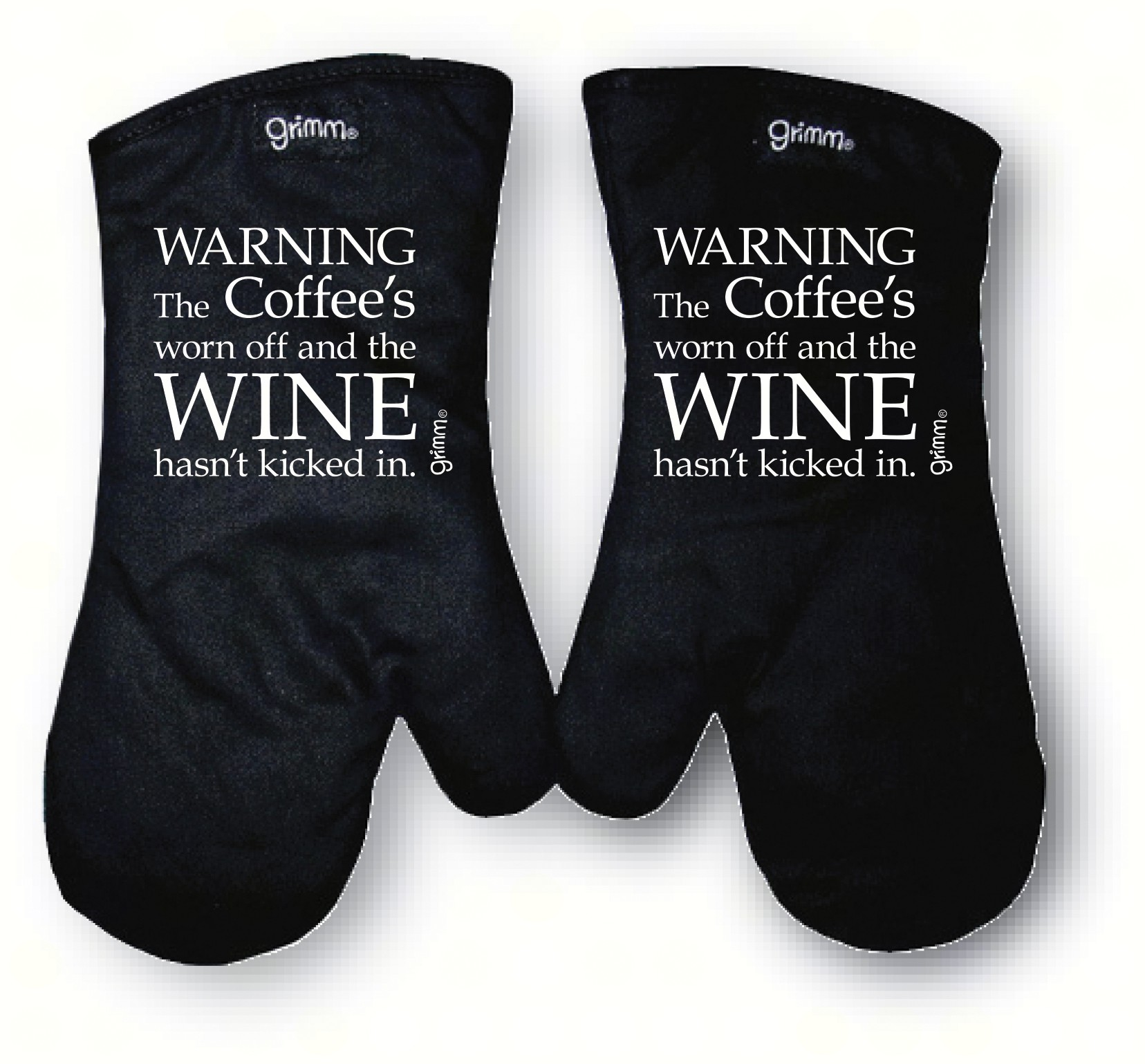 Warning The coffee's worn off and the Wine hasn't kicked in Oven Mitt