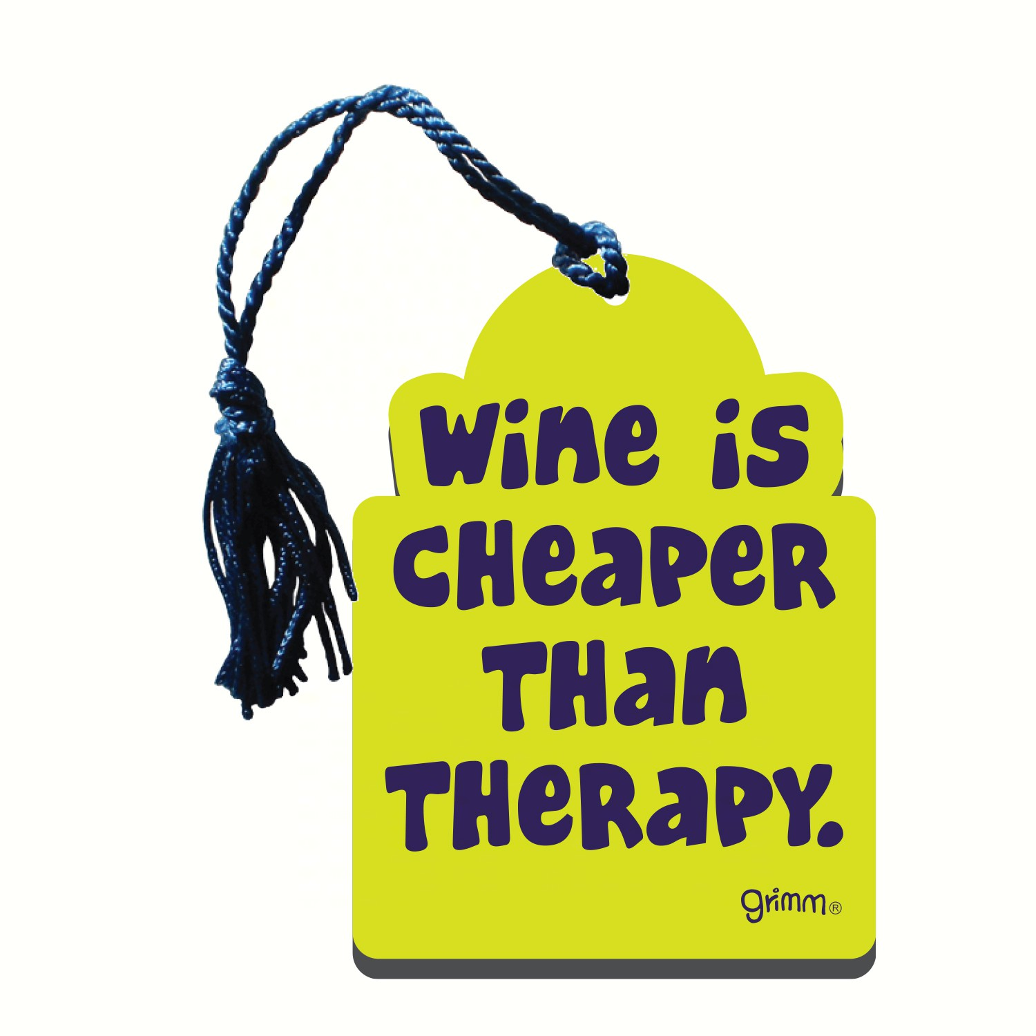 Bottle Gift Tag/Magnet, Wine is cheaper than therapy