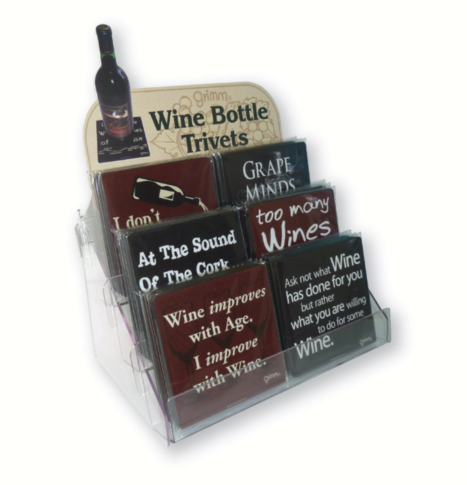 Wine Bottle Trivets Counter Display