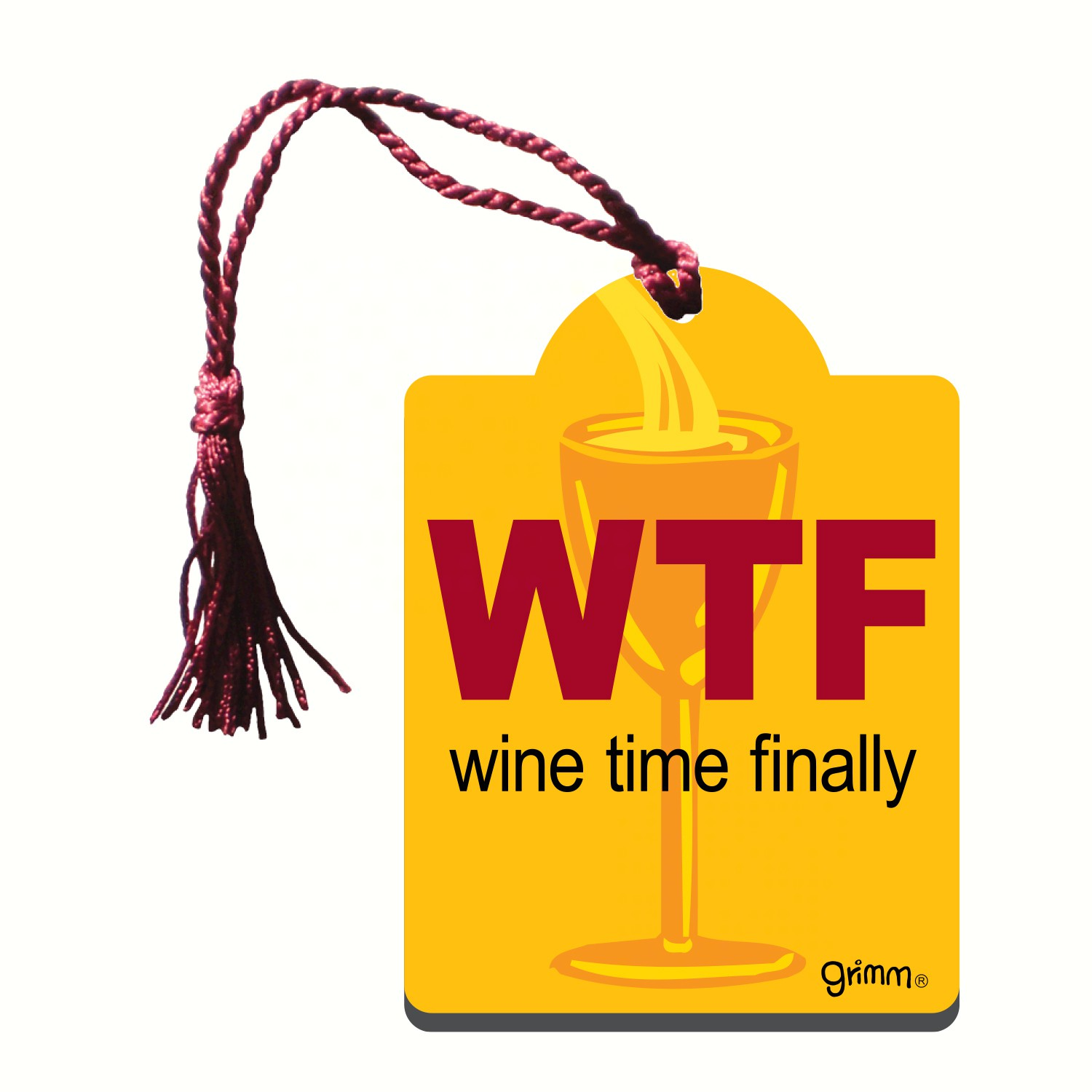 Bottle Gift Tag/Magnet, WTF... wine time finaly