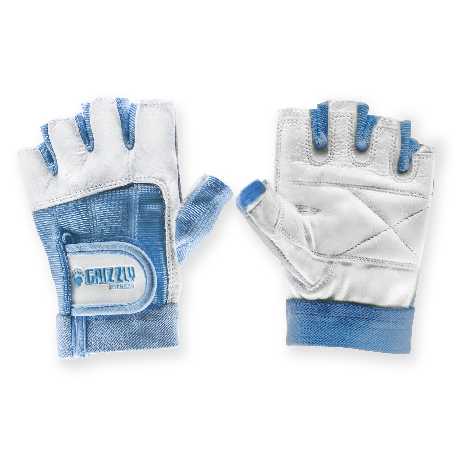 Womens Blue Grizzly Paw Gloves - XS