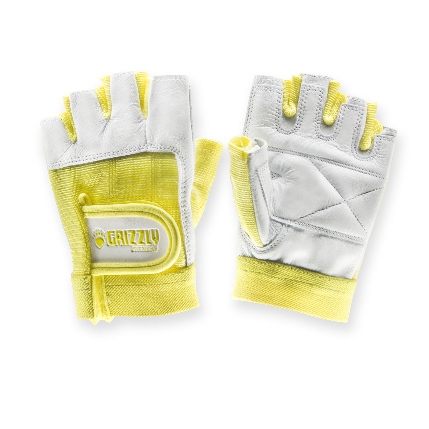 Womens Yellow Grizzly Paw Gloves - Large