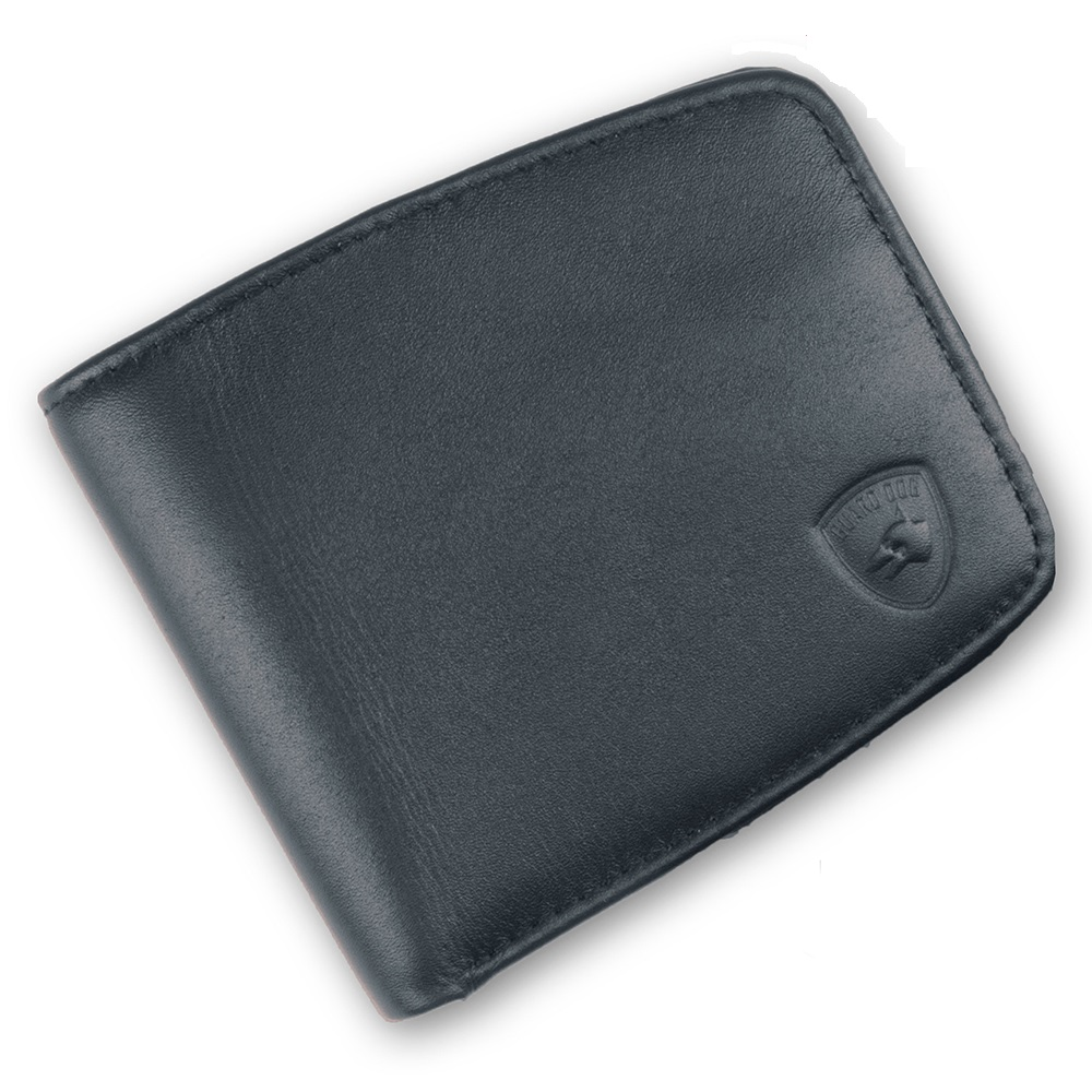 Guard Dog Premium Lthr RFID Block UltraSlim Small Wallet-Blk