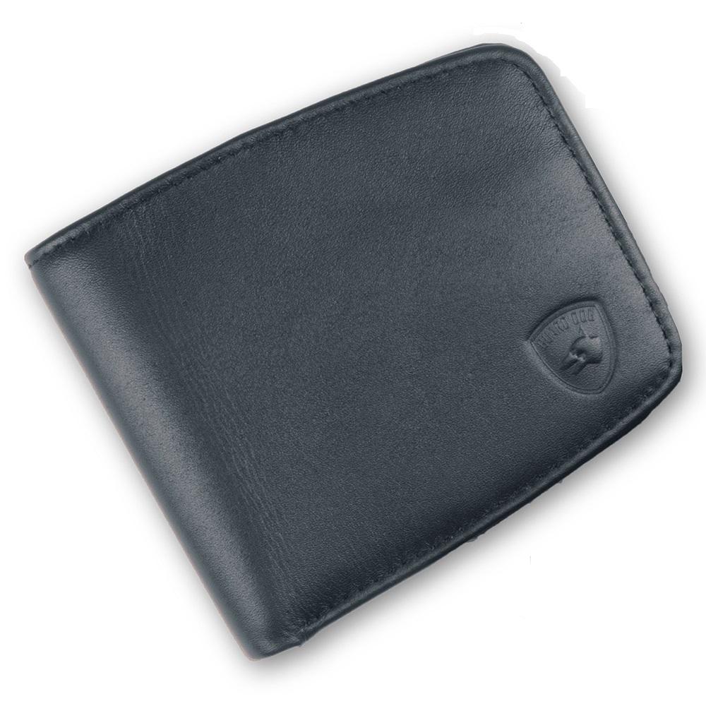 Guard Dog Premium Lthr RFID Block UltraSlim Small Wallet-Blk