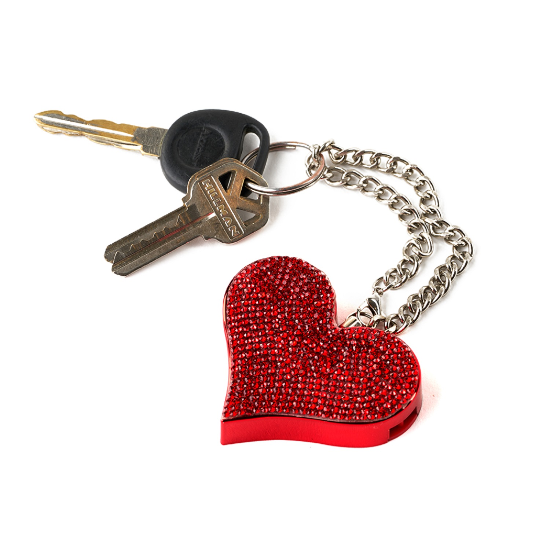 Guard Dog HeartBeat Keychain Alarm Red