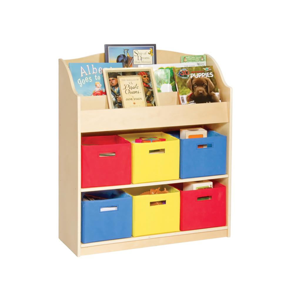 GuideCraft Kids Indoor Playschool Kindergarden Furniture Dcor Accessories Set Book and Bin Storage