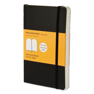 Classic Softcover Notebook, Ruled, 5 1/2 x 3 1/2, Black Cover, 192 Sheets