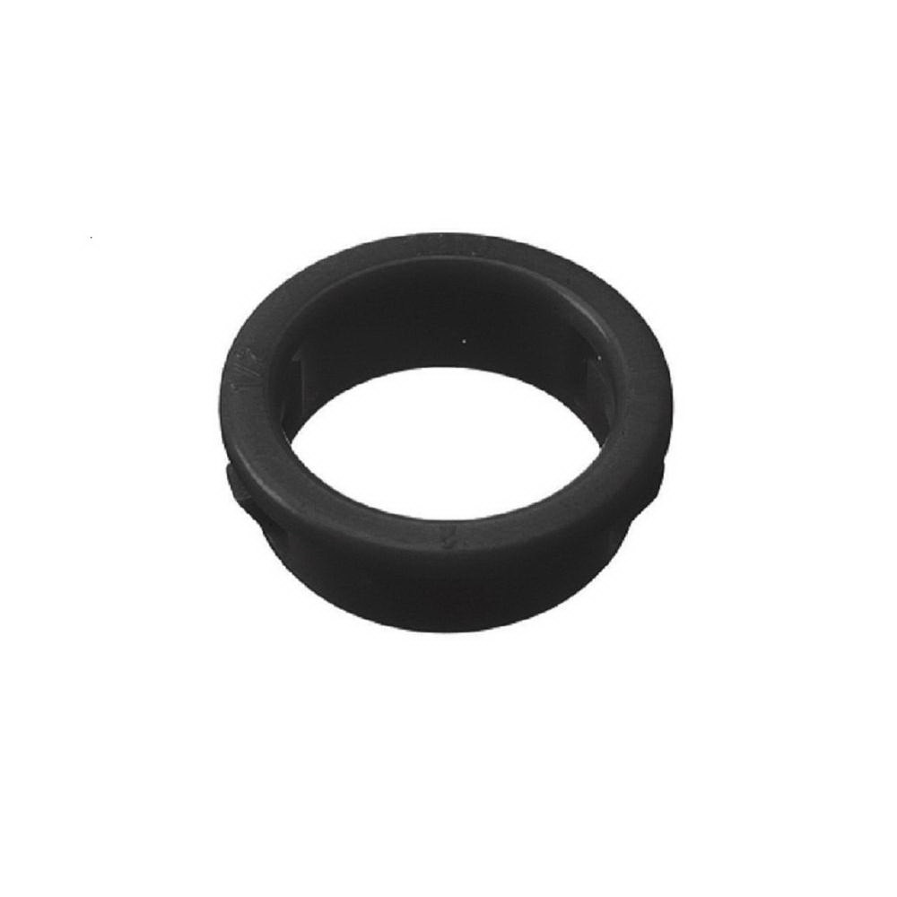 Halex 27251 Snap-In Bushing, 1/2 in, 0.72 in ID X 0.99 in OD X 0.36 in T, Plastic
