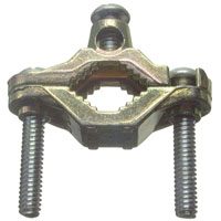Halex 36110 Ground Clamp, 1/2 - 1 in, Bronze