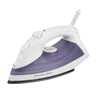 Proctor Silex 17201 Non-Stick Steam Iron, 1200 W, 110 V, 12.7 oz Tank, Blast and Fine-Mist Spray