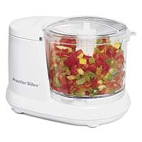 Hamilton Beach 72500R Corded Food Chopper, 1-1/2 Cup, Stainless Steel, White