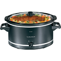 8 QUART SLOW COOKER Black/SILVER