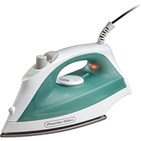 Proctor Silex 17291 Non-Stick Steam Iron, 1200 W, 120 V, 5 oz Tank, Fine-Mist Spray