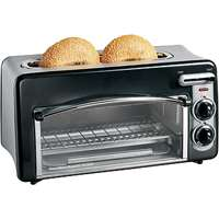 Toastation® 2-in-1 Toaster & Oven, Black