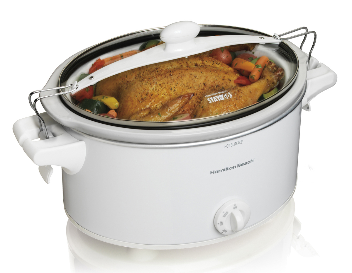 Stay or Go 33263 Oval Slow Cooker, 6 qt, 9.8 in H x 17.3 in W x 11.1 in L