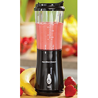 Hamilton Beach Single-Serve Blender With Travel Lid, 175 W, Black