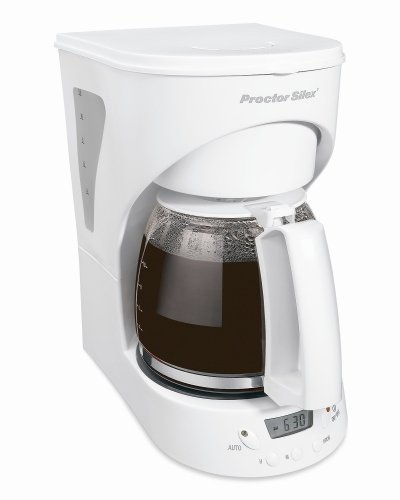 White 12-Cup Coffeemaker