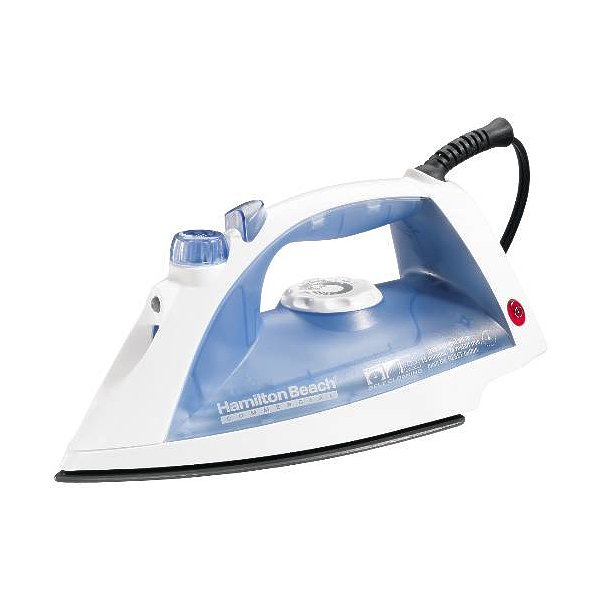 Hamilton Beach Non-Stick Hospitality Clothes Iron with Auto Shut-Off, White