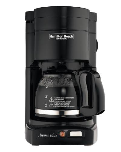 Hamilton Beach 4-Cup Coffee Maker With Glass Carafe, Black