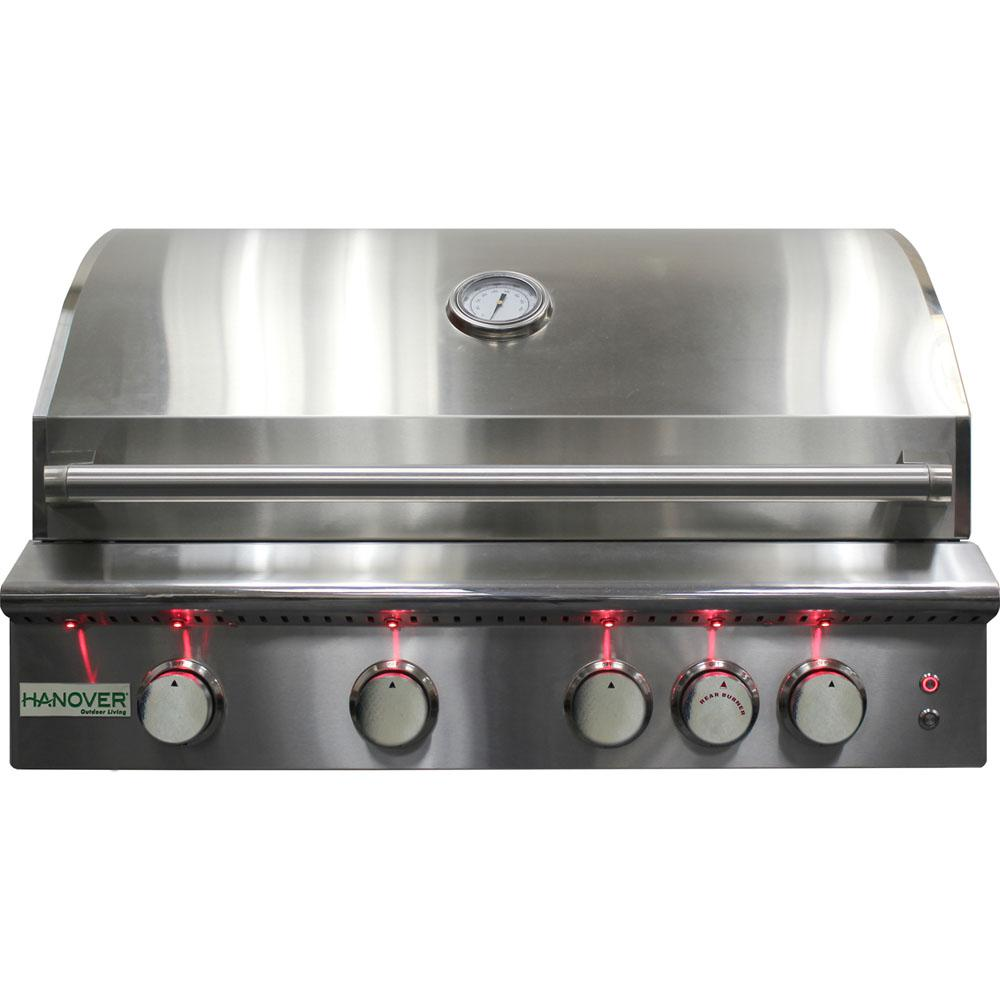 "32"" 4-Burner Gas Grill w/ Infrared Burner - LP"