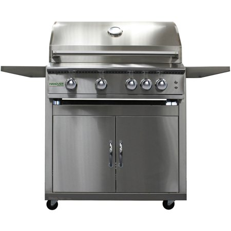 "32"" 4-Burner Gas BBQ Grill & Cart, LP"