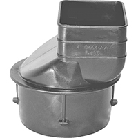 Hancor 0465AA Corrugated Large Downspout Adapter, 4 X 4-1/4 X 3 in