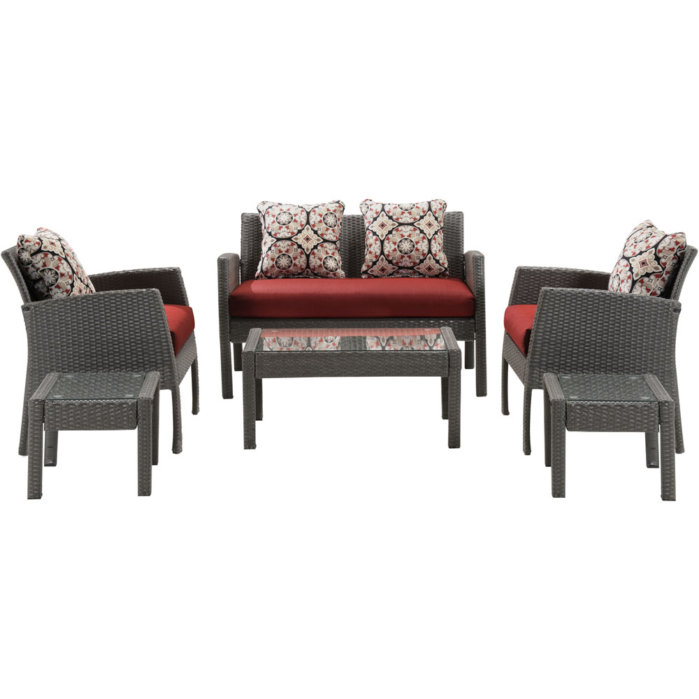 Chelsea 6pc Seating Set: Loveseat, 2 Side Chairs, 2 Side Tbl, Coffee Table