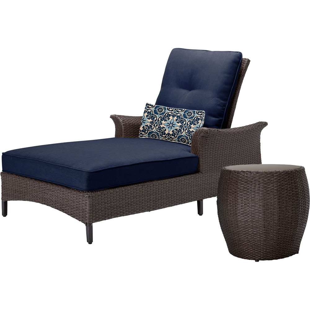 Gramercy 2pc Chaise Lounge Set; 1 Chaise Lounge Chair; 1 End Table