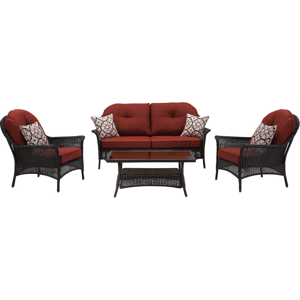 San Marino 4pc Set: 1 Loveseat, 2 Side Chairs, 1 Coffee Table