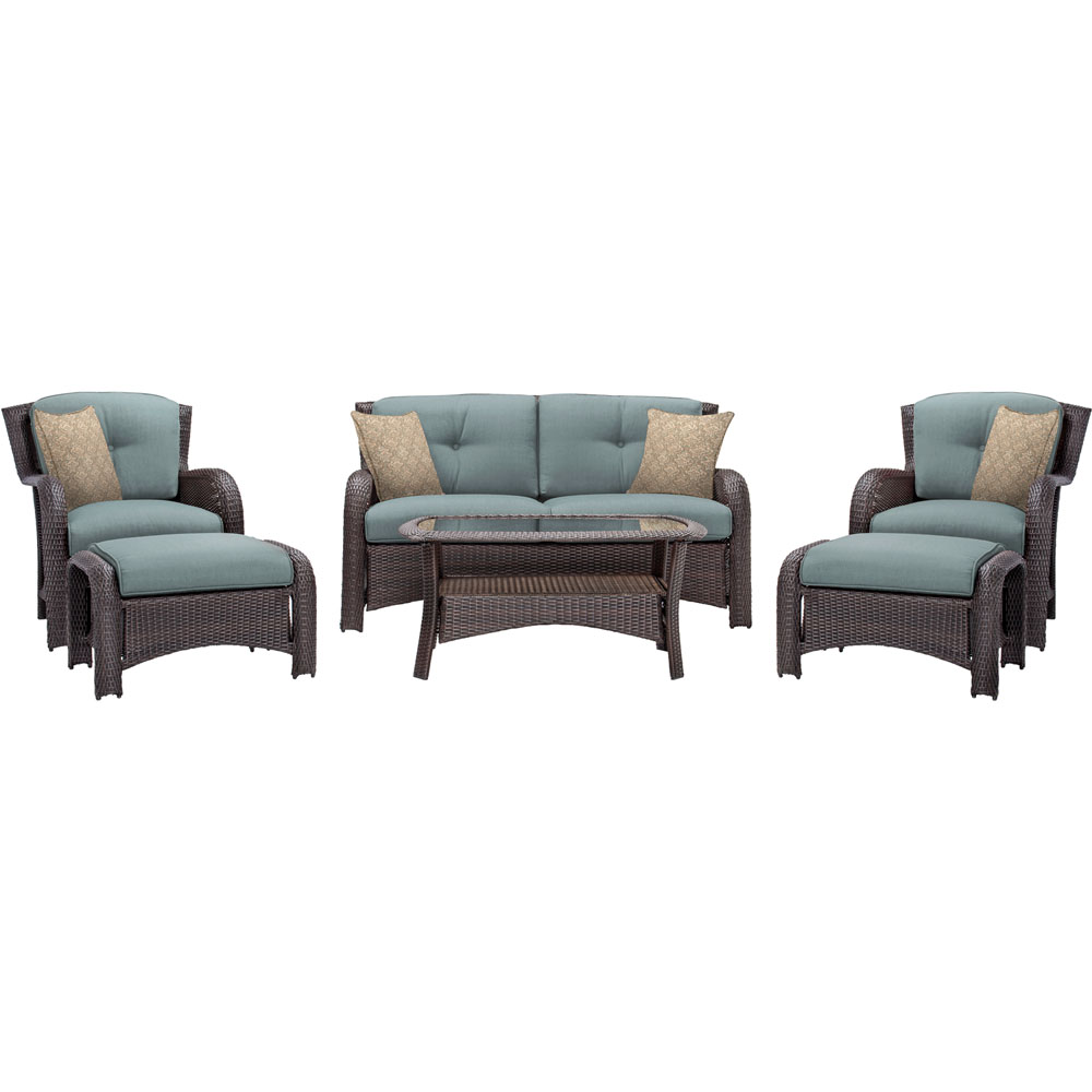 Strathmere 6-pc Deep Seating Set w/Cushions, Coffee Table
