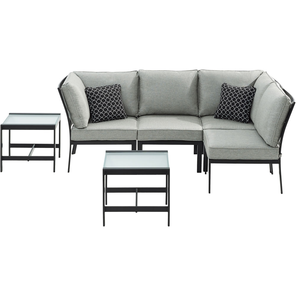 Murano 6pc Sectional: Right Corner, Left Corner, 2 Chairs, 2 Tables
