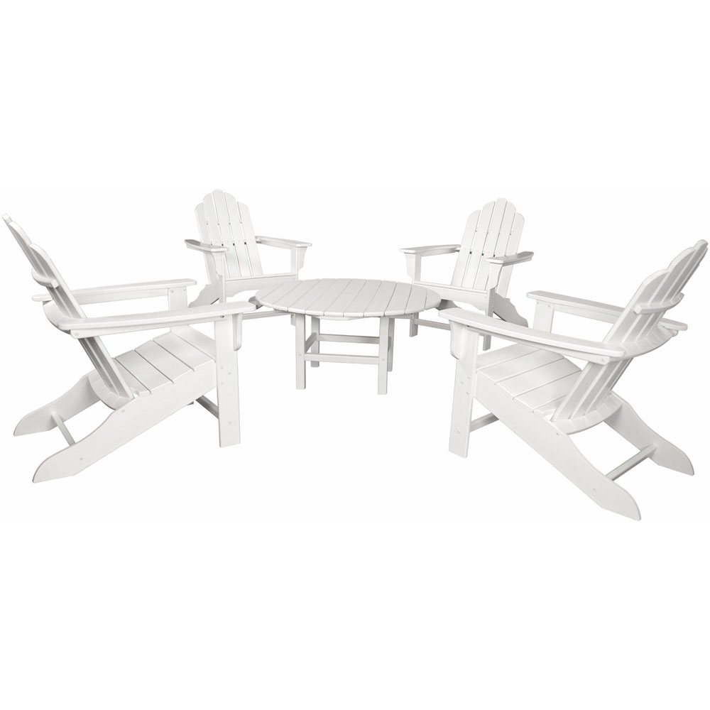 "Hanover All-Weather 5pc Ad. Chat Group: 4 Ad. Chairs, 1 38"" Table"