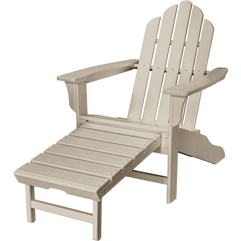 Hanover All-Weather Adirondack Chair w/ Attached Ottoman