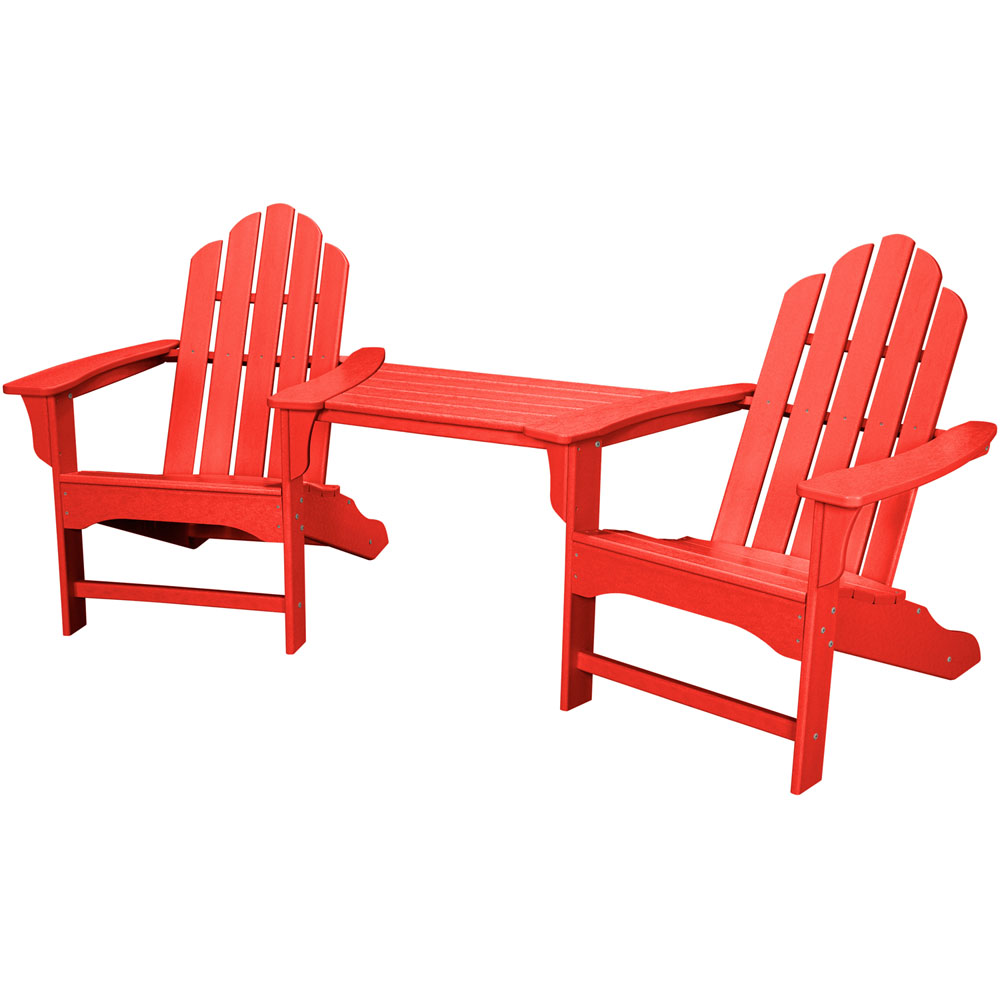 Hanover All-Weather Rio 3pc Tete-a-Tete: 2 Ad Chairs, Tete-a-Tete Table