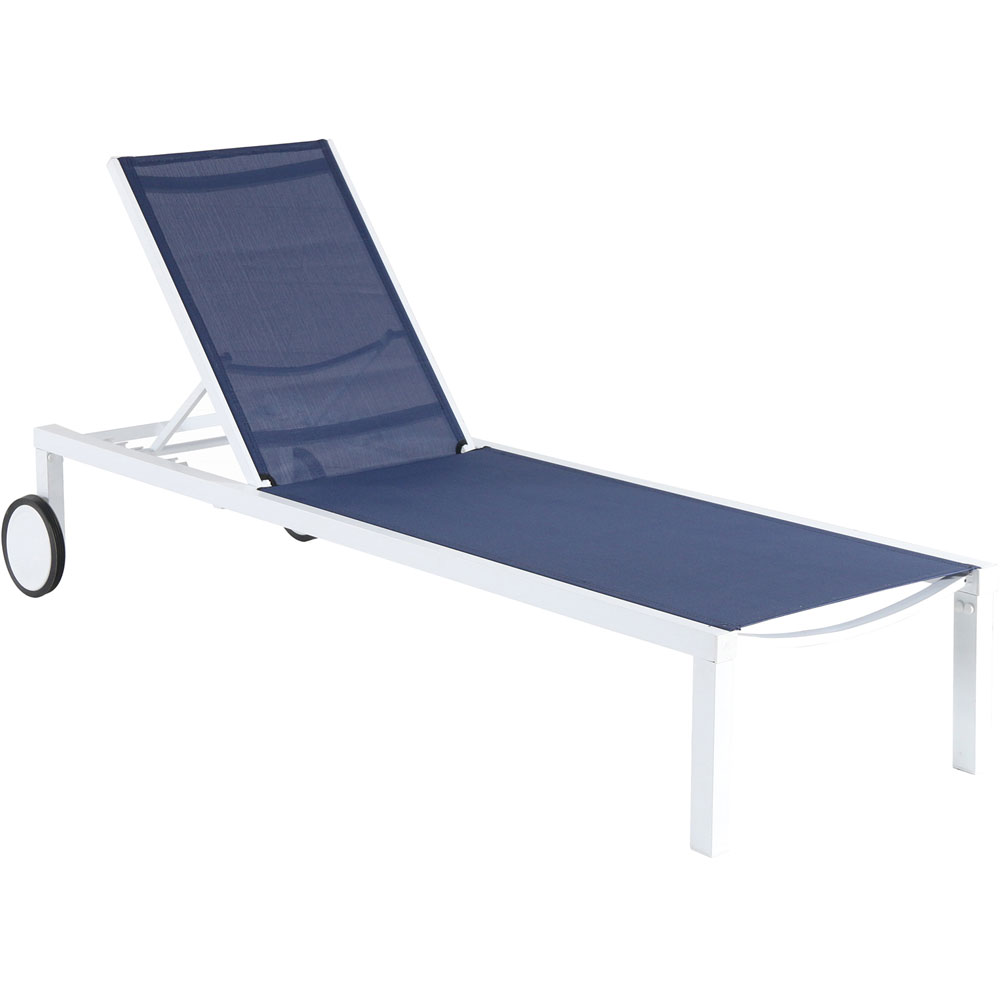 Aluminum Sling Armless Chaise Lounge
