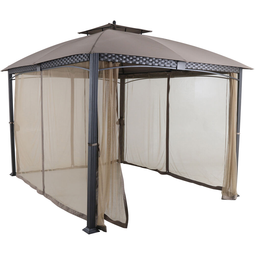 Aster 9.7'x11.8' Aluminum and Steel Gazebo with Netting