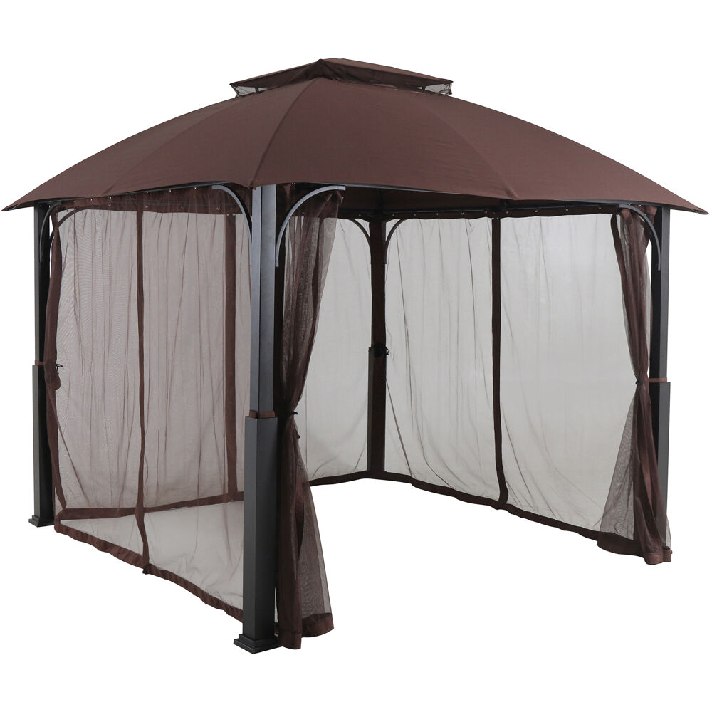 Morning Vale9.9'x9.35' Aluminum and Steel Gazebo with Netting